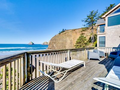 Photo for Charming, oceanfront getaway w/ gorgeous water views & easy beach access!