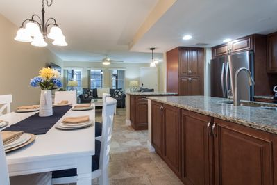 Dining, Kitchen and Living Room