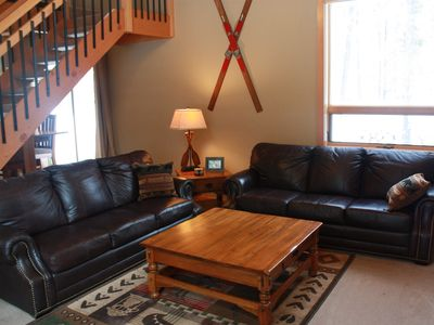 Photo for BEST Location in Sunriver/10 SHARC Passes/AC/ WIFI/ HUGE Bunk Room/Hot Tub/Bikes