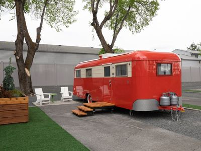 Photo for Giddy up for a stay in our sweet little 1947 Westwood Coronado, completely restored and outfitted wi