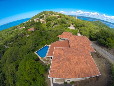 Photo for Villa Quetzal - Two Floors of Open Air Terraces Ocean View Home in Playa Hermosa