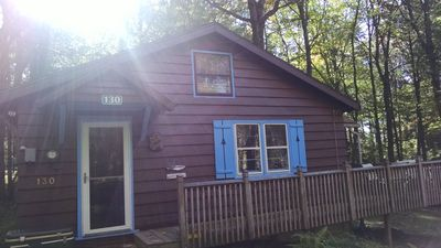 Photo for Enjoy our warm comfy cozy cabin just yards from the lake!