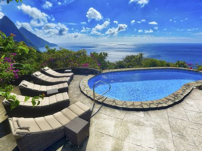 Photo for Villa Atabeyra - St Lucian Hillside Escape with Stunning Ocean and Piton Views
