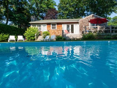 Spend Labor Day at  Sweet Sag Harbor Cottage with pool, 3 beds, 3 baths