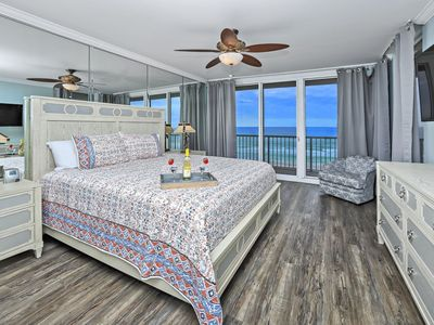 Photo for Majestic Beach Towers low floor end unit 4BR 3BA with amazing views of PCB!
