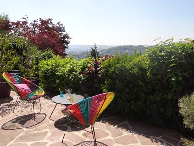 Photo for Apartment with 2 terraces panoramic view of Rouen