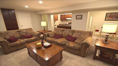 Cozy family room seating