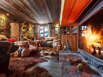 Photo for SUPERB CHALET FOOT TRACKS 360m2, Sauna, Hammam, 2Spas, 6Pad, Wifi, 6GOPRO, with DP