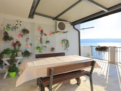 Photo for One bedroom apartment with terrace and sea view Stanići, Omiš (A-12723-b)