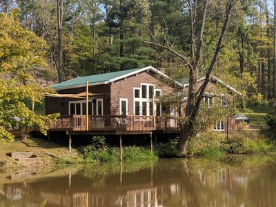 Photo for Waterfront Home Located On A Private 82 Acre Property with Extensive Trails!