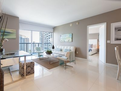 Photo for Incredible Highrise ocean view suite one Bedroom at the W Icon Miami. FREE SPA