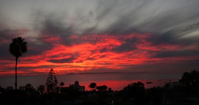 Spectacular Catalina Island sunsets from your home.  Sit down and enjoy the views.