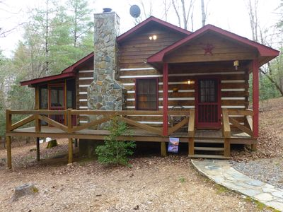 Photo for Affordable Mountain Cabin With Fireplace, Internet, & Netflix!