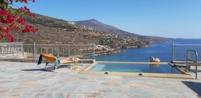 Photo for Andros Private Villa Overlooking the Blue Aegean Sea
