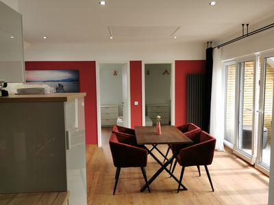 Photo for Modern 3 room apartment with own roof terrace and parking spaces