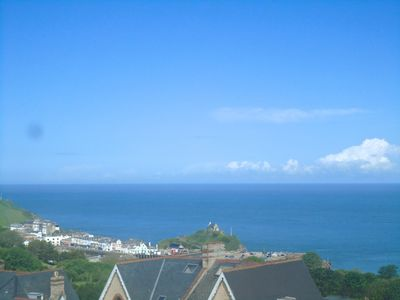 Photo for Amazing sea views,  walk to beach/harbour, with parking, lower occupancy rates