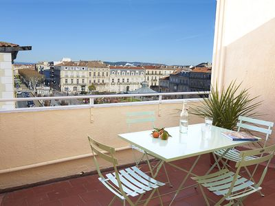 Photo for Apartment with terrace in the center, beautiful view with little opposite.