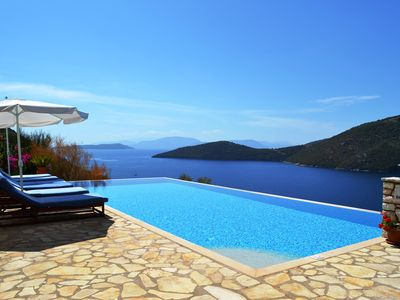 Photo for Panoramic Sea Views, Infinity Pool, Easy Access to Beach, Tavernas and Shops