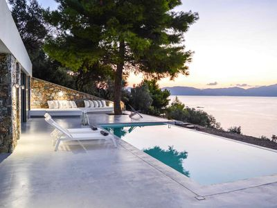 Photo for Modern Pool Villa with Private Beach and Sea Views
