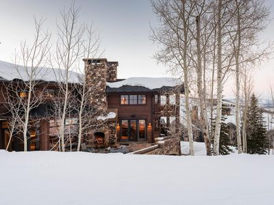 Photo for Ski-in, ski-out chalet in Empire Pass with theater, fire pit and slope-side hot tub