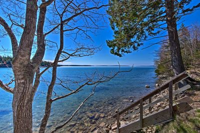 This Bernard, Maine home is located on the shores of Duck Cove.