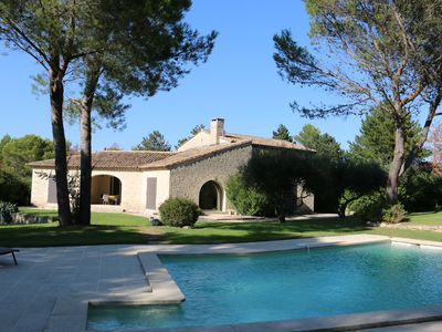 Photo for Mas of character with pool, quiet environment in St Siffret 8 min Uzès