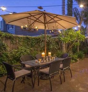 Outdoor Patio (Well Lit at Night)