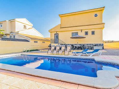 Photo for 3 bed 3 bath villa w/large private pool, games console, quiet edge of resort location, unimpeded views, all ensuite.