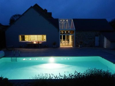 Photo for Beautiful house with heated pool, beach 5 mins, well placed for cultural visits