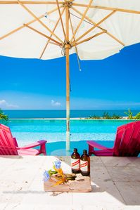 Photo for Luxurious Beach Front Villa with Pool - Out of the Blue Villa