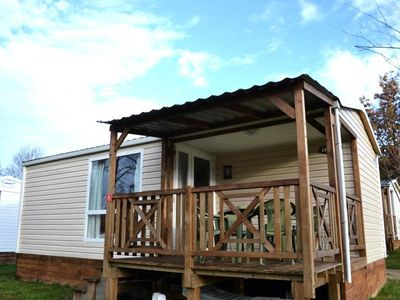 Photo for Camping Flower La Sténiole *** - Mobil Home Loggia 3 Rooms 4/5 People