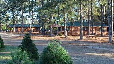 Photo for Log Cabin Rental on Fish River Christmas Tree Farm