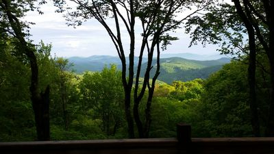 Stunning 80-mile view from back porch