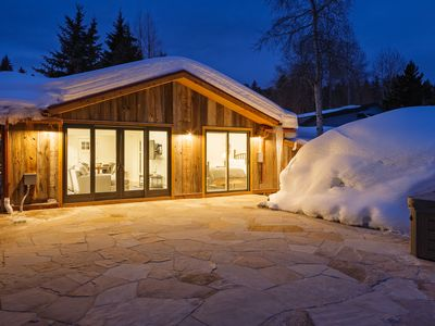 Photo for Minturn River Cabin w Hot Tub, 2 bedroom 1 Bath large patio overlooking river