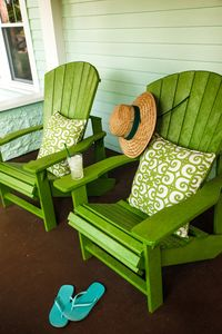 Kick back & enjoy a cold drink on the Adirondack chairs on the front porch.