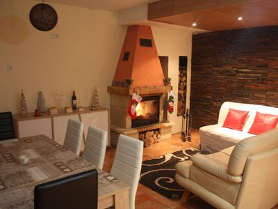 Photo for Holiday home in a rural setting with garden and fireplace.
