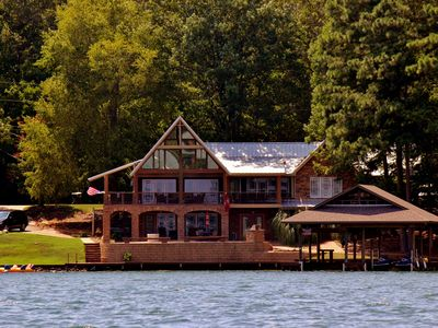 Photo for Million dollar views from an amazing 5 bdrm cabin on Lake Martin (Auburn side)