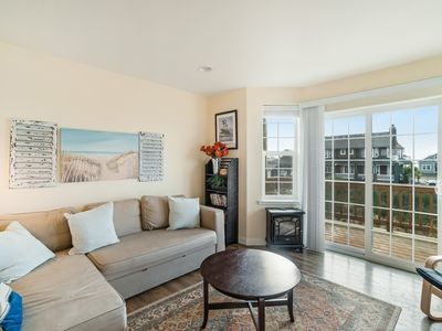 Photo for Family-friendly home w/ two balconies, ocean views - walk to the beach!