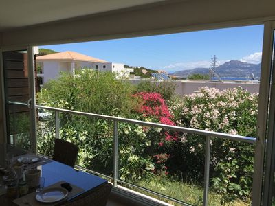 Photo for CALVI, Beautiful Apartment with PRIVATE GARDEN, quiet residence, neat decor, Wifi