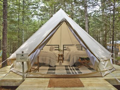 Photo for Glamping @ Tops'l Farm - Luxury Tent Site #1