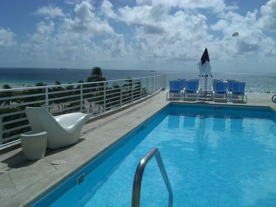 Photo for Oceanfront Condo Suite w/City Views & Rooftop Pool - Ocean Drive - South Beach