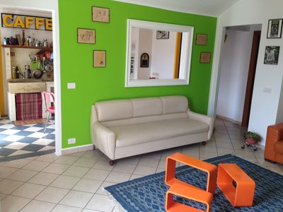 Photo for Bright and cozy apartment 10 minutes walk from the center