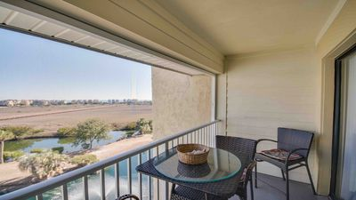 Private balcony with ocean, marsh and lagoon view