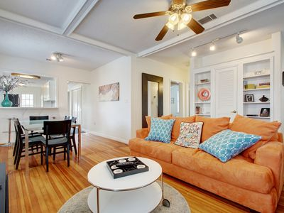Photo for 3BR/2BA Downtown Charming Bungalow, Sleeps 8