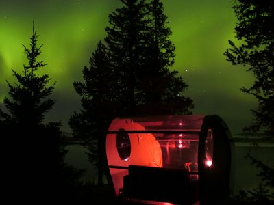 Photo for Stay warm in nature surounded by glass and Northern Lights