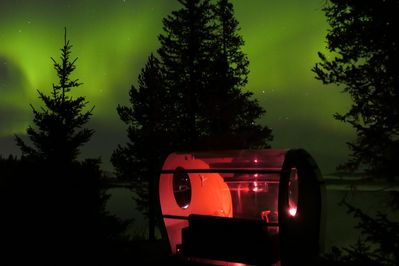 northern lights before the snow arrives