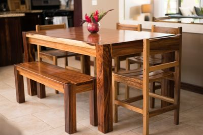 wood dining table - seating for 6
