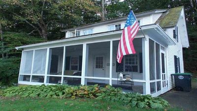 Photo for Lovely Cottage On Webster Lake With Screened In Porch Next To The  Rail Trail