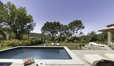 Photo for Authentic Provençal farmhouse with a stunning view of the Mont Ventoux
