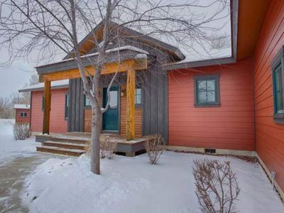 Photo for Two Bedroom Open Floor Plan Home Located Along a Creek, Close to Grand Targhee Resort.
